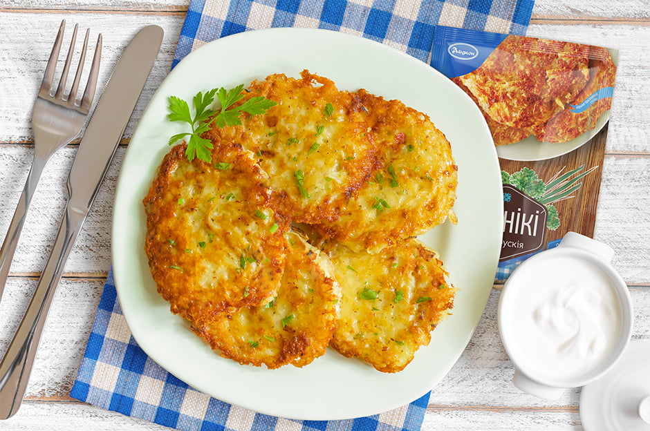 Potato pancakes and dumplings
